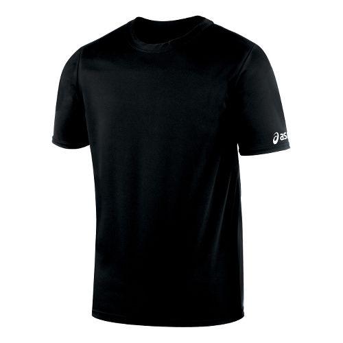 Mens ASICS Circuit-7 Warm Up Shirt Short Sleeve Technical Tops - Black 3X
