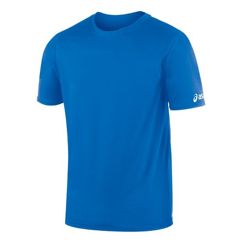Mens ASICS Circuit-7 Warm Up Shirt Short Sleeve Technical Tops - Royal XL