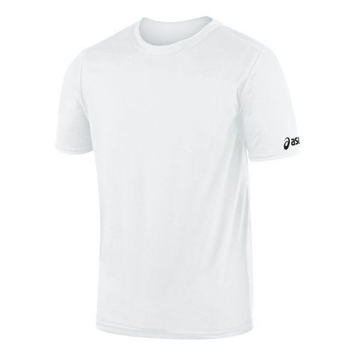 Mens ASICS Circuit-7 Warm Up Shirt Short Sleeve Technical Tops - White M