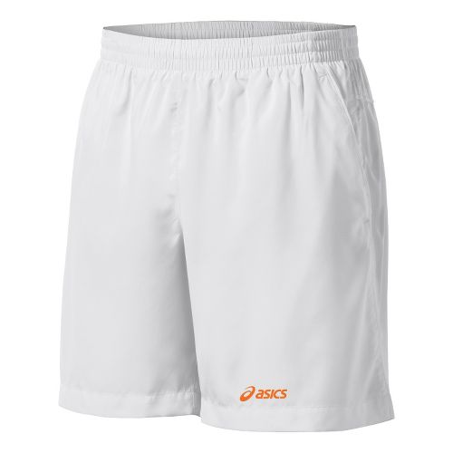 Mens ASICS Court Unlined Shorts - Real White M
