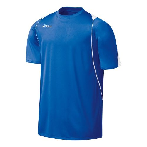 Mens ASICS Crusher Jersey Short Sleeve Technical Tops - Royal/White M