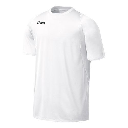 Mens ASICS Crusher Jersey Short Sleeve Technical Tops - White/White M