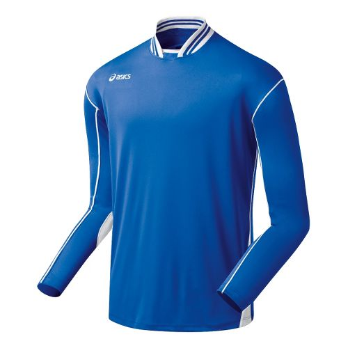 Mens ASICS Digg Long Sleeve No Zip Technical Tops - Royal/White L