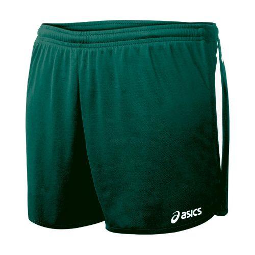 Womens ASICS Interval 1/2 Splits Shorts - Forest/White L