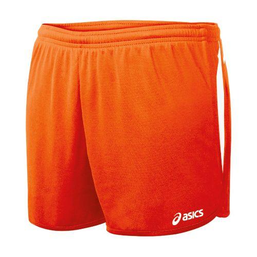 Womens ASICS Interval 1/2 Splits Shorts - Orange/White S