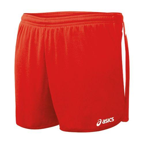 Womens ASICS Interval 1/2 Splits Shorts - Red/White XL