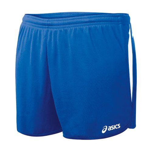 Womens ASICS Interval 1/2 Splits Shorts - Royal/White M