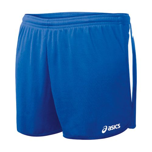 Womens ASICS Interval 1/2 Splits Shorts - Royal/White S