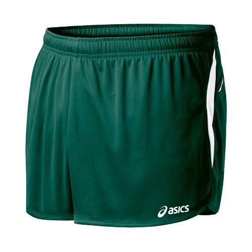 Mens ASICS Interval 1/2 Splits Shorts - Forest/White 2X