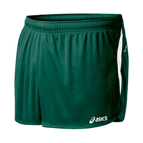 Mens ASICS Interval 1/2 Splits Shorts - Forest/White S
