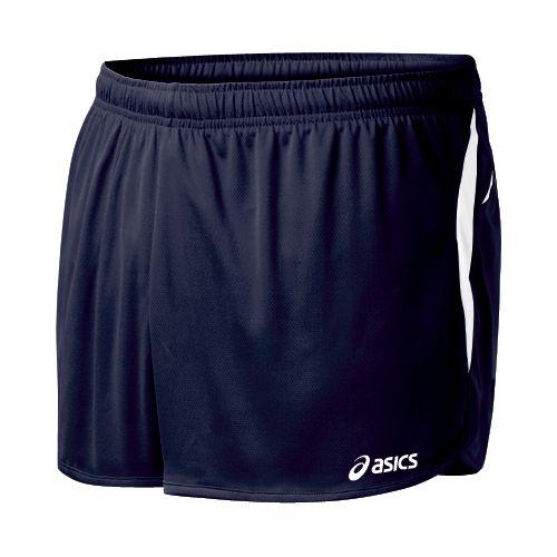 Mens ASICS Interval 1/2 Splits Shorts - Navy/White 2X