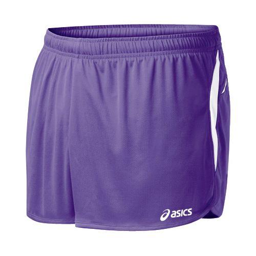 Mens ASICS Interval 1/2 Splits Shorts - Purple/White 2X