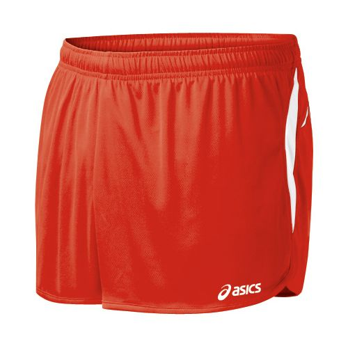 Mens ASICS Interval 1/2 Splits Shorts - Red/White S