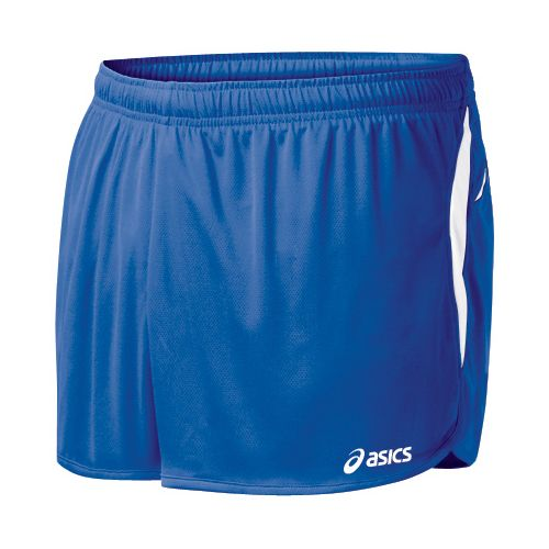 Mens ASICS Interval 1/2 Splits Shorts - Royal/White S