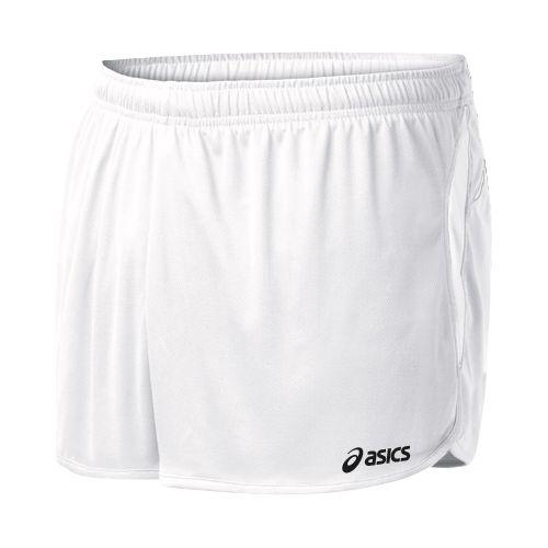 Mens ASICS Interval 1/2 Splits Shorts - White/White 2X