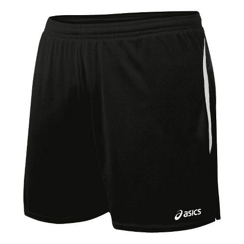 Womens ASICS Interval Lined Shorts - Black/White M