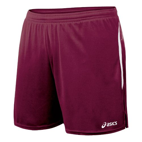 Womens ASICS Interval Lined Shorts - Cardinal/White L
