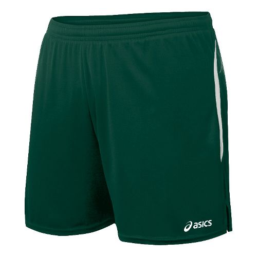 Womens ASICS Interval Lined Shorts - Forest/White XL