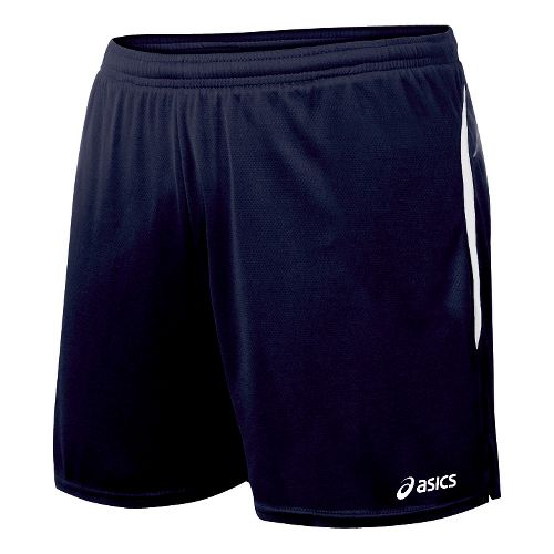 Womens ASICS Interval Lined Shorts - Navy/White S