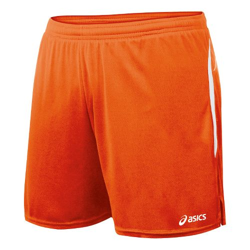 Womens ASICS Interval Lined Shorts - Orange/White S