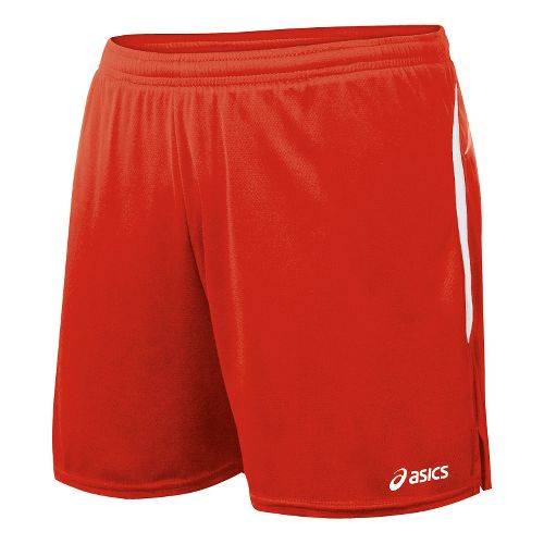 Womens ASICS Interval Lined Shorts - Red/White M