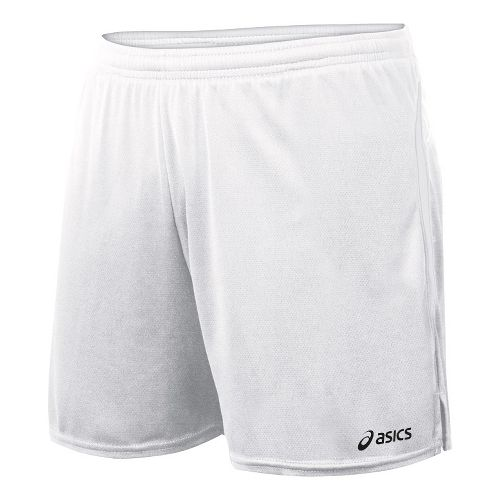 Womens ASICS Interval Lined Shorts - White/White L