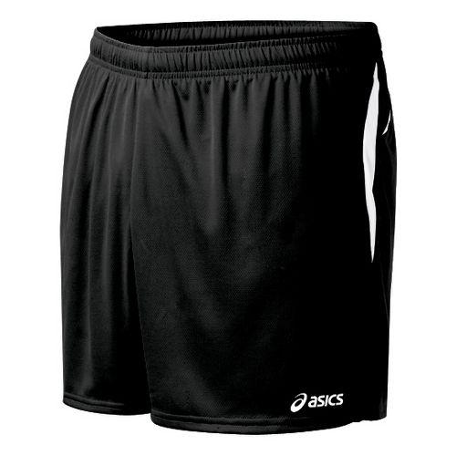 Mens ASICS Interval Lined Shorts - Black/White 2X