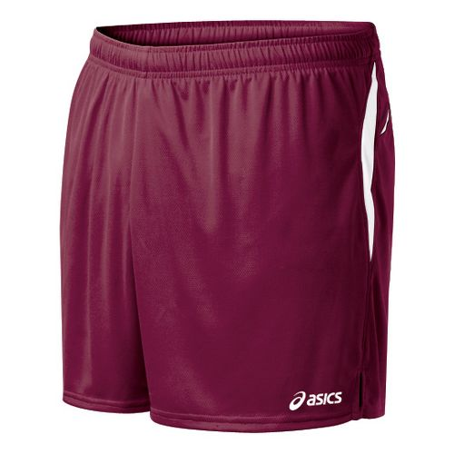 Mens ASICS Interval Lined Shorts - Cardinal/White M