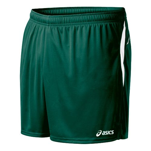 Mens ASICS Interval Lined Shorts - Forest/White S