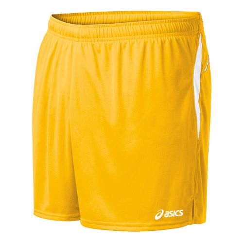 Mens ASICS Interval Lined Shorts - Gold/White S