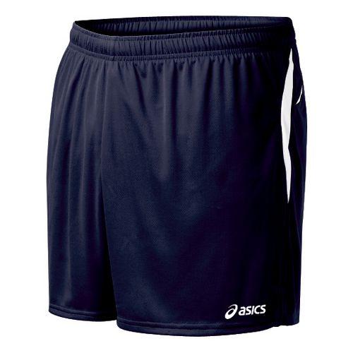 Mens ASICS Interval Lined Shorts - Navy/White M