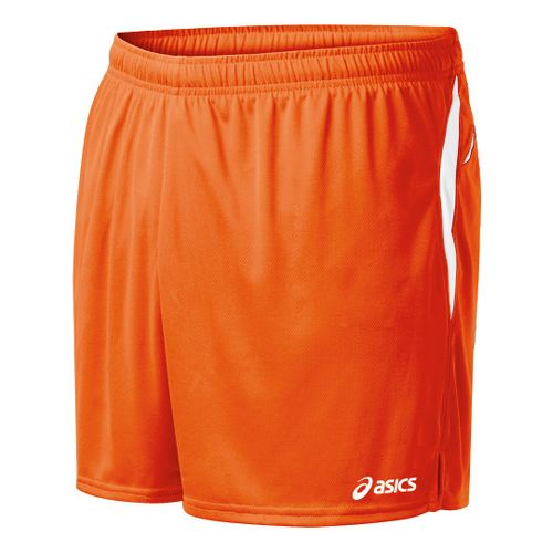 Mens ASICS Interval Lined Shorts - Orange/White S