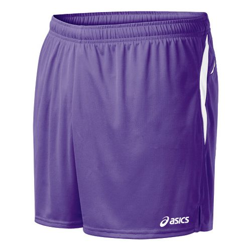 Mens ASICS Interval Lined Shorts - Purple/White M