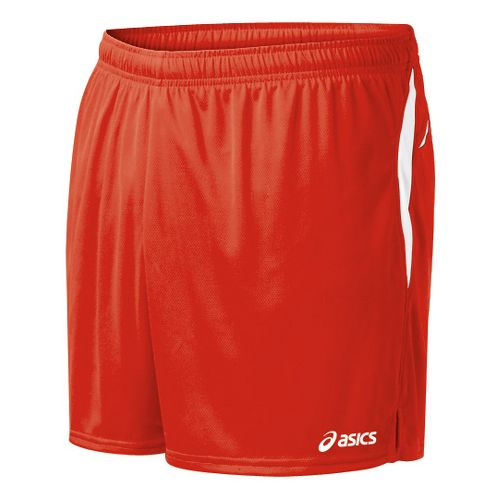 Mens ASICS Interval Lined Shorts - Red/White S