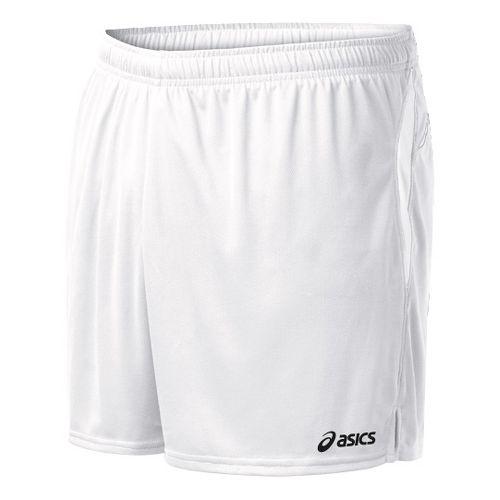 Mens ASICS Interval Lined Shorts - White/White 2X