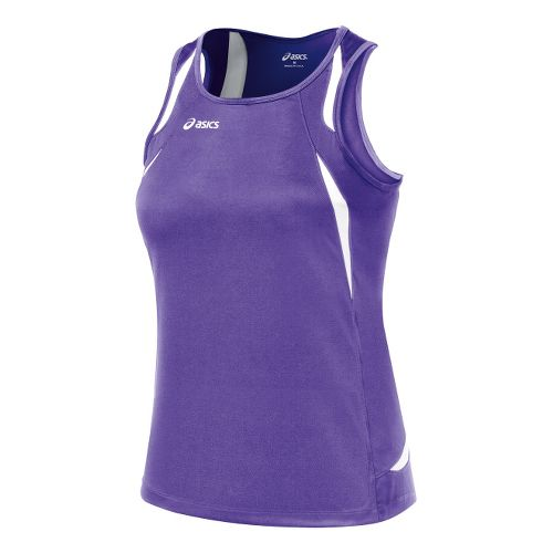 Womens ASICS Interval Singlets Technical Tops - Purple/White M