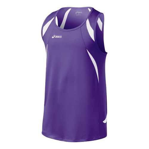 Mens ASICS Interval Singlets Technical Tops - Purple/White 3X