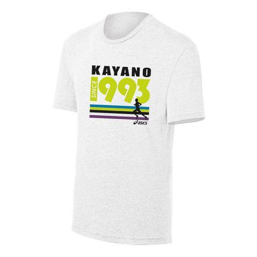 Mens ASICS Kayano 1993 Tee Short Sleeve Technical Tops - White XXL