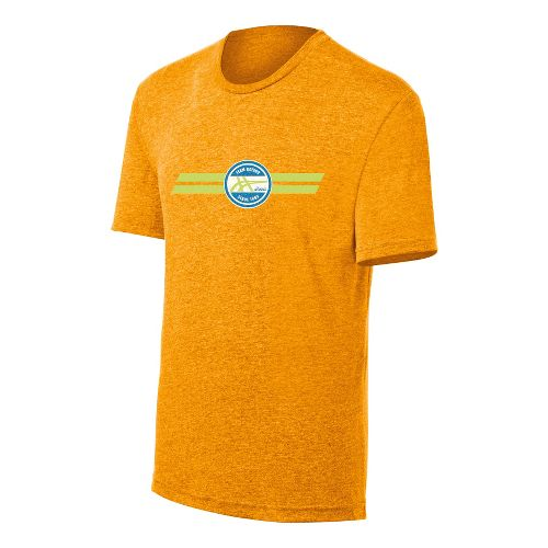 Mens ASICS Team Kayano Tee Short Sleeve Technical Tops - Fuel/Heather S
