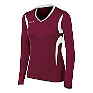 Womens ASICS Mintonette Long Sleeve No Zip Technical Tops