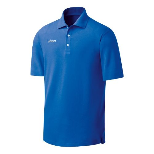 Womens ASICS Official Polo Short Sleeve Technical Tops - Royal M