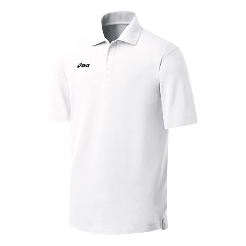 Womens ASICS Official Polo Short Sleeve Technical Tops - White 2X