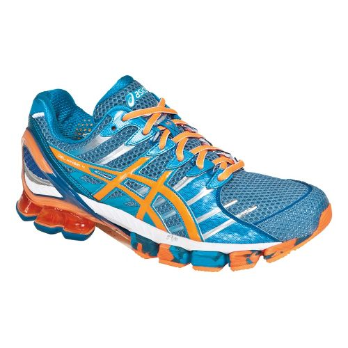 Mens ASICS GEL-Kinsei 4 Running Shoe - Island Blue/White 11