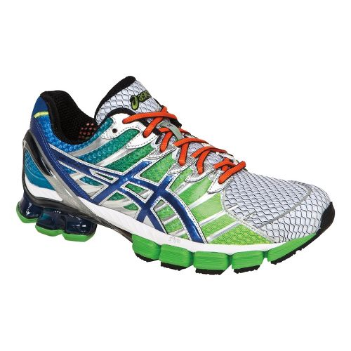 Mens ASICS GEL-Kinsei 4 Running Shoe - Lime/Royal 12.5