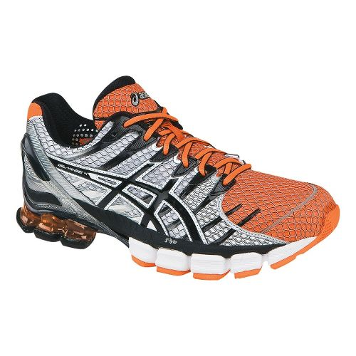 Mens ASICS GEL-Kinsei 4 Running Shoe - Neon Orange/Black 10