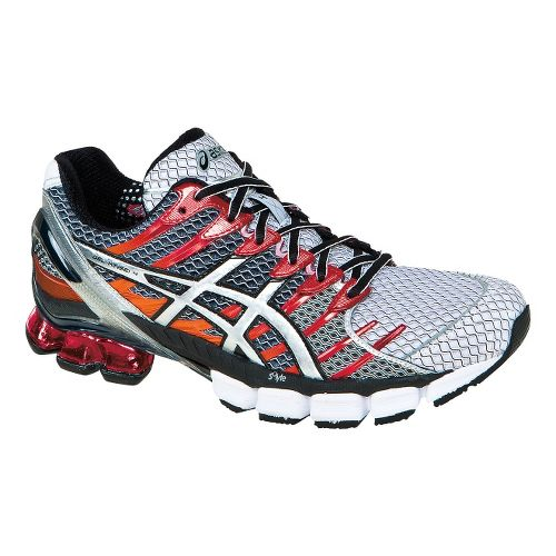 Mens ASICS GEL-Kinsei 4 Running Shoe - White/Lightning 10.5