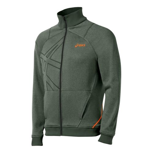 Mens ASICS Resolution Warm-Up Unhooded Jackets - Argyle L