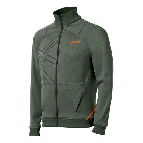 Mens ASICS Resolution Warm-Up Unhooded Jackets - Argyle XL