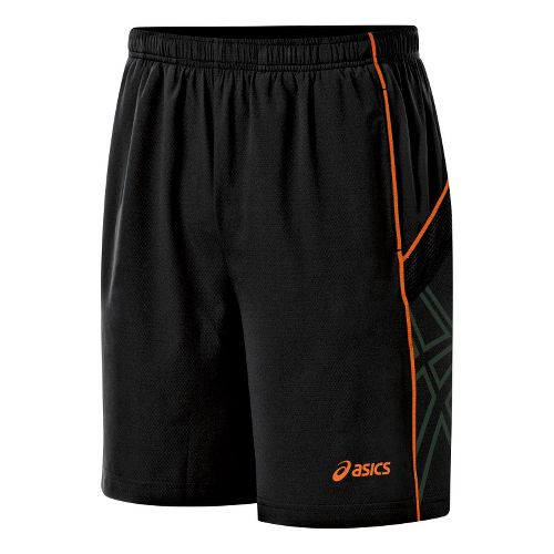 Mens ASICS Resolution Lined Shorts - Performance Black/Shocking Orange M