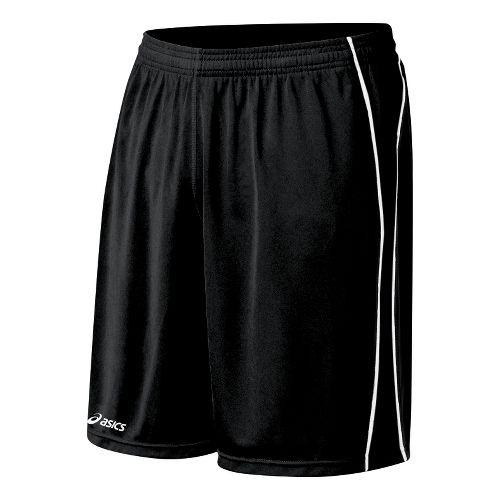 Mens ASICS Tango Lined Shorts - Black/White XL